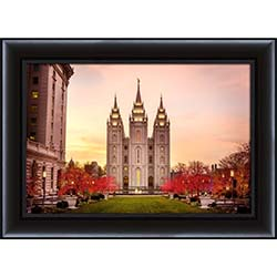 Salt Lake Temple Christmas - Framed