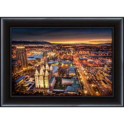 Salt Lake Temple From Above - Framed - D-LWA-SJ-SLTHFA-7360777