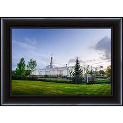 Spokane Temple Light Blue Skies - Framed