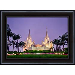 San Diego Temple Morning - Framed