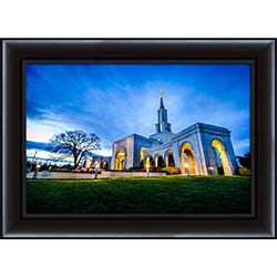Sacramento Temple Sunset Corner - Framed