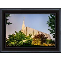 Seattle Temple Sunset Side - Framed