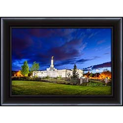 Spokane Temple Twilight - Framed