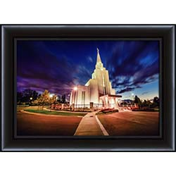 Vancouver Temple Twilight - Framed