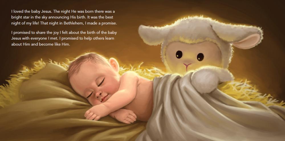 The Little Lamb from Bethlehem Book and Plush Lamb Gift Set - DBD-5182475