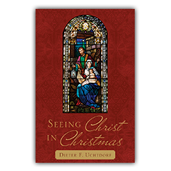 Seeing Christ in Christmas by Dieter F. Uchtdorf - Booklet (5 Pack) christmas pamphlet, 2018 christmas pamphlet, lds christmas pamphlet, dieter f uchtdorf