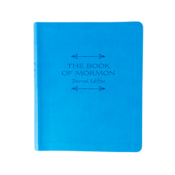 The Book of Mormon Faux Leather Journal Edition - Blue book of mormon journal edition, book of mormon