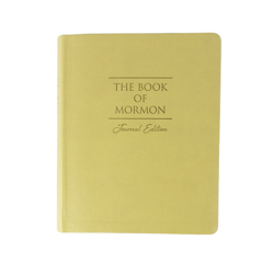 The Book of Mormon Faux Leather Journal Edition - Large Print