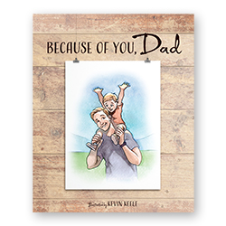 Because of You, Dad fathers day book, fathers day gift,