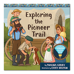 Exploring the Pioneer Trail flashlight discovery book, flashlight book, childrens flashlight book, childrens christmas book
