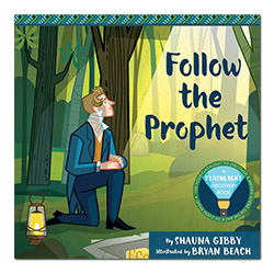 Follow the Prophet flashlight discovery book, flashlight book, childrens flashlight book, childrens christmas book