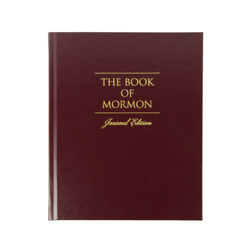The Book of Mormon Journal Edition - Red Hardcover book of mormon journal edition, book of mormon journal