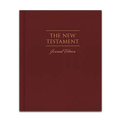 The New Testament, Journal Edition - Red