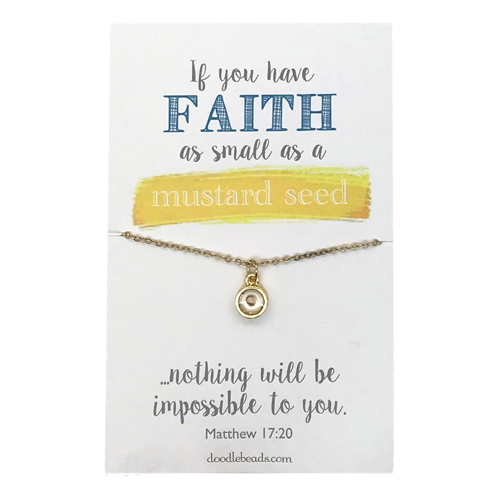 Mustard Seed Necklace – Faith As Small As a Mustard Seed - DBS-MJ131G