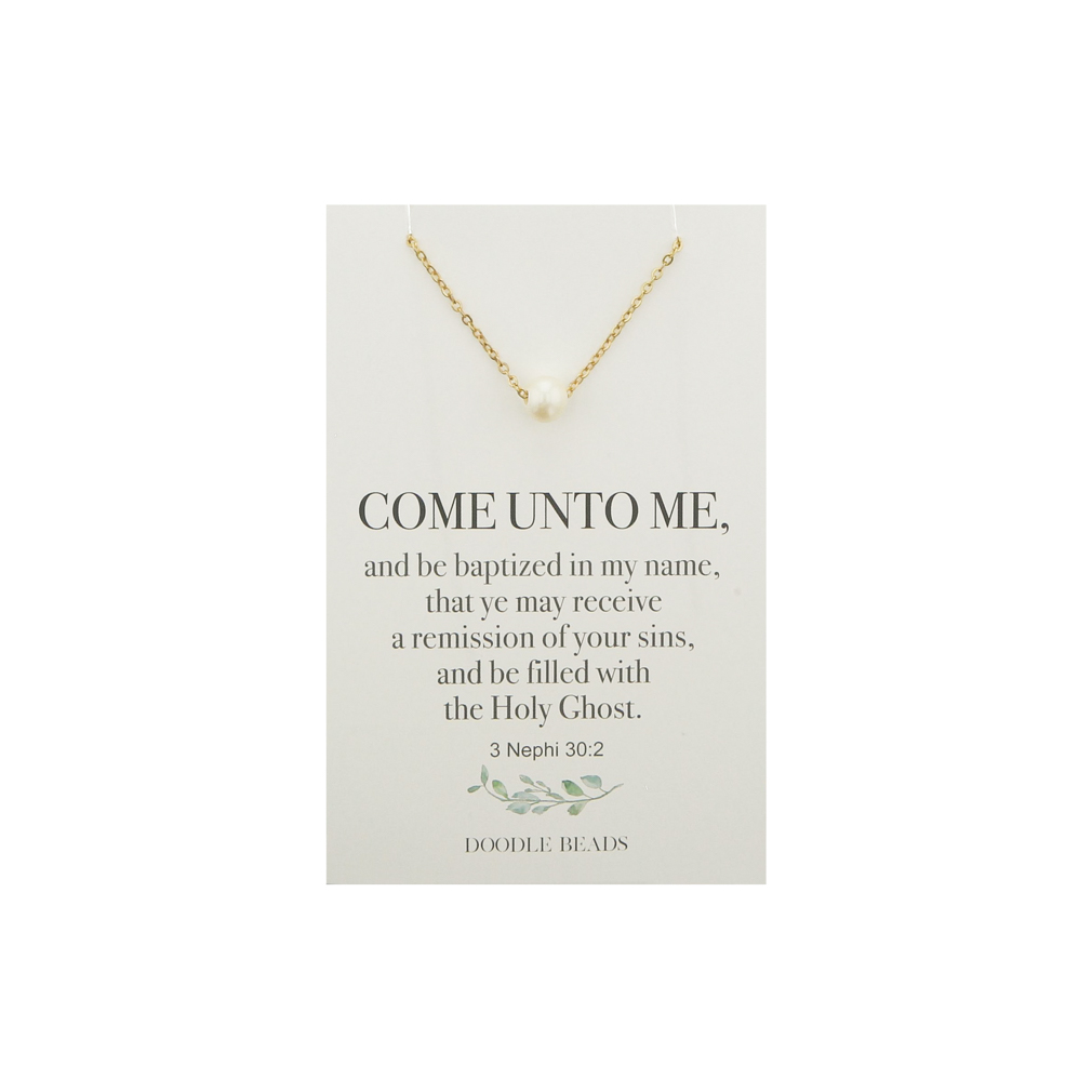 Pearl Baptism Necklace - DBS-MJ245