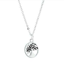 Silver Spirit of Elijah Tree Necklace