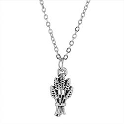 Silver Field is White Missionary Necklace