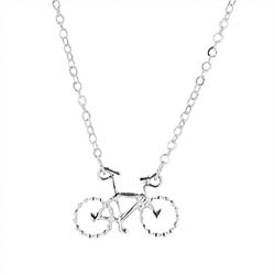 Called to Serve Missionary Bike Necklace