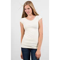 Cream Cap Sleeve Wonder Tee
