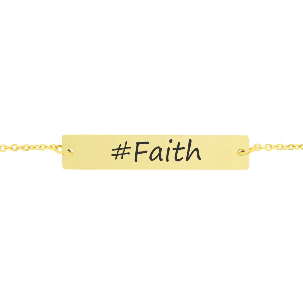 #Faith Bar Bracelet - LDP-HBB0534