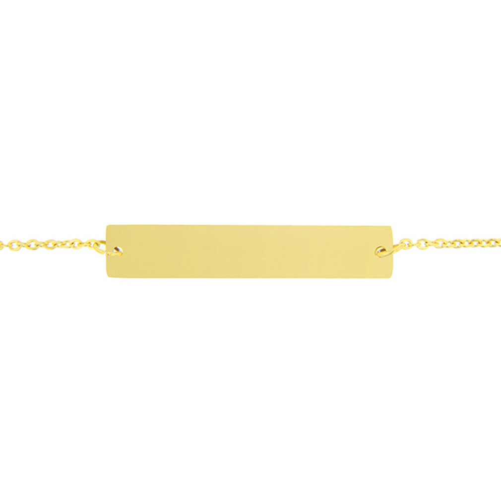 Customizable Horizontal Bar Bracelet - LDP-HBB