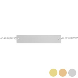 Customizable Horizontal Bar Bracelet