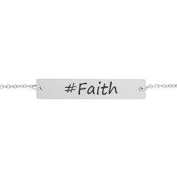 #Faith Bar Bracelet