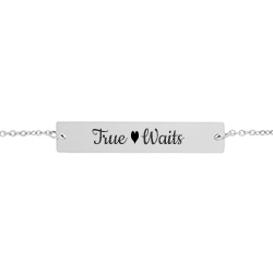 True Heart Waits Bar Bracelet