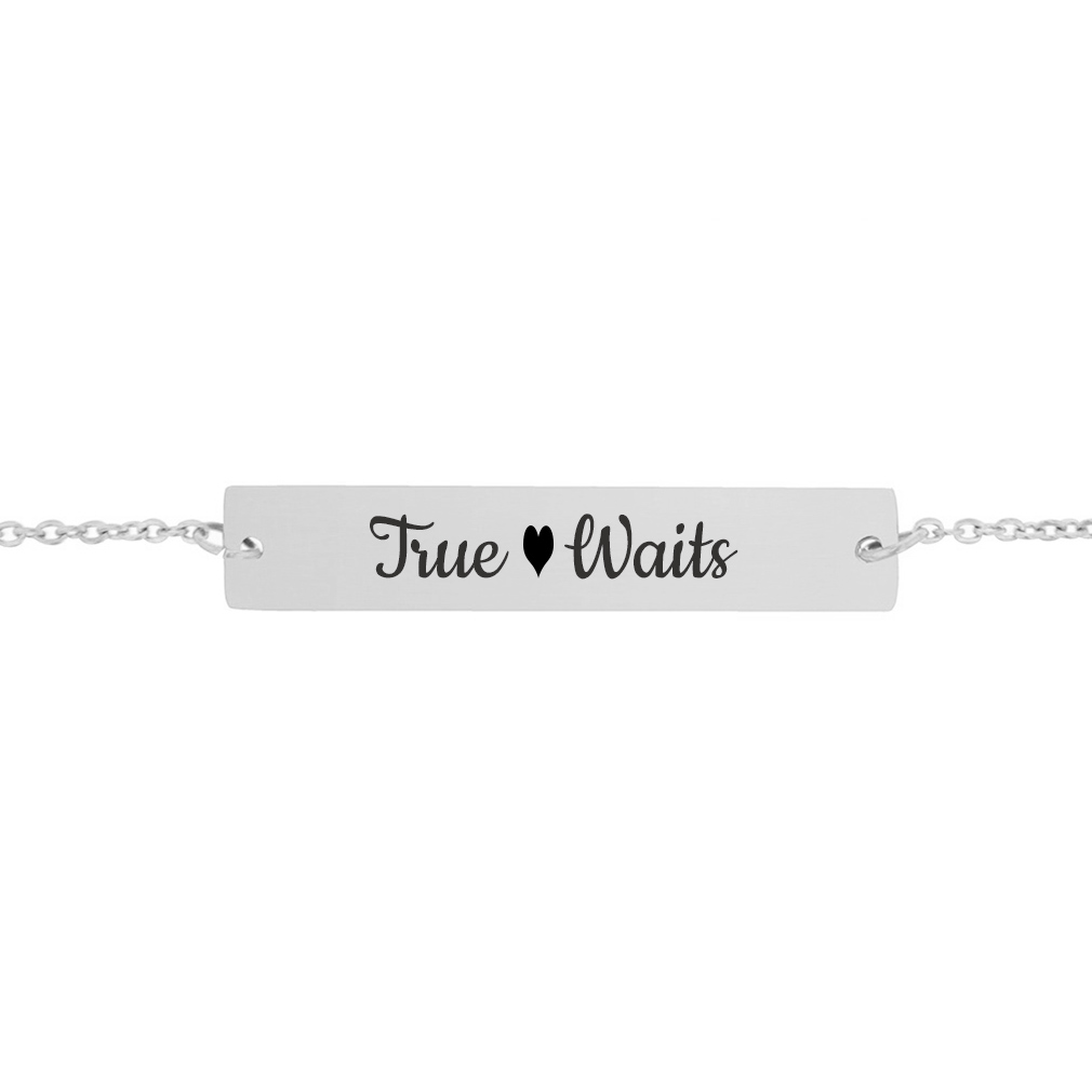 True Heart Waits Bar Bracelet - LDP-HBB0538