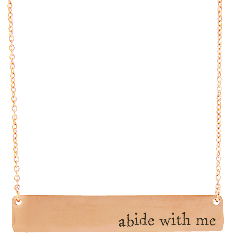 Abide with Me Bar Necklace - LDP-HBN10272