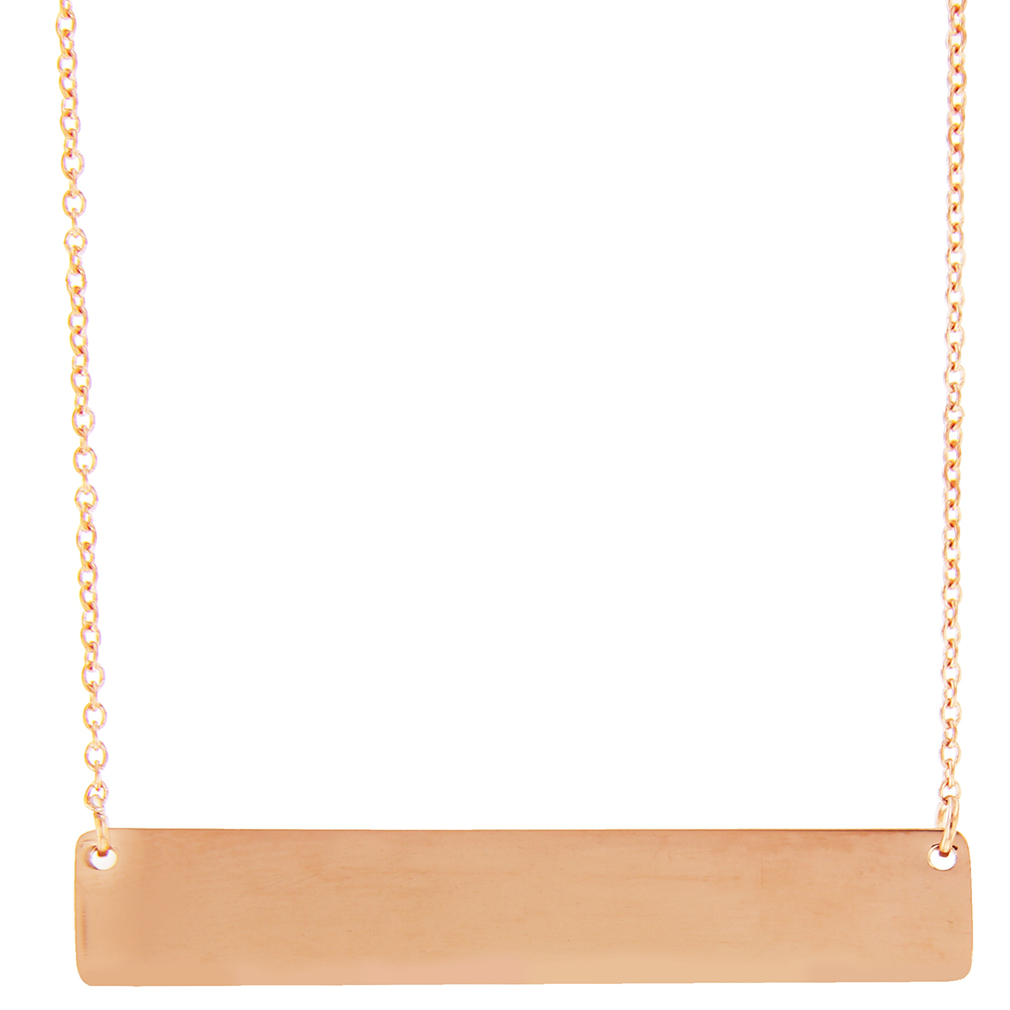 Customizable Horizontal Bar Necklace - LDP-HBN1039
