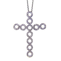 Circle Cross Necklace