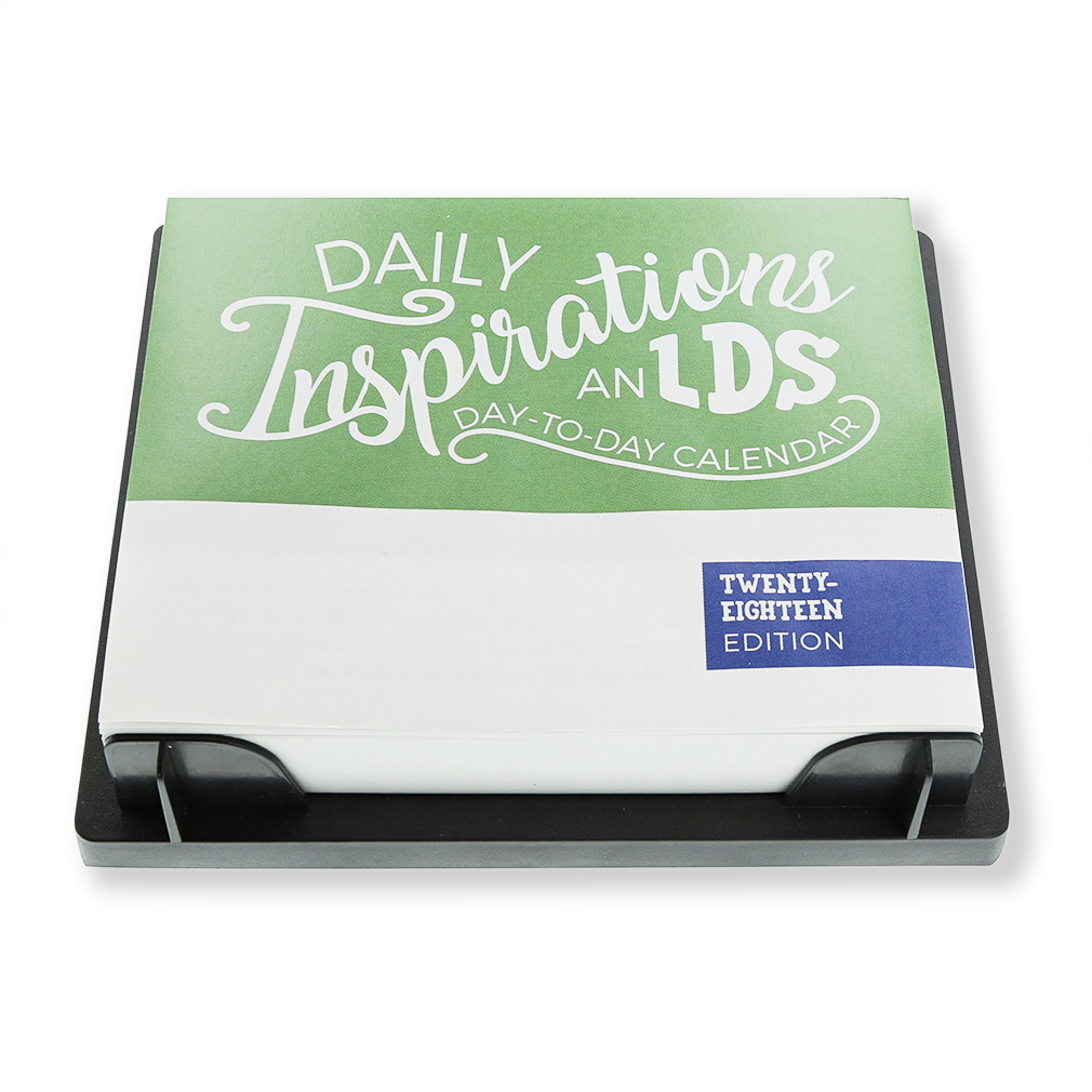 FREE Daily Inspirations - 2018 LDS Day-to-Day Calendar - LDP-2018DTD