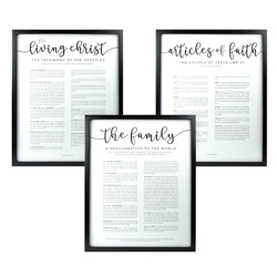 Framed Church Proclamations Pack - Modern Framed family proclamation