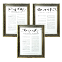 Framed Church Proclamations Pack - Barnwood Framed family proclamation