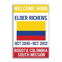 Handheld Flag Missionary Poster - Elder lds missionary banner, flag missionary banner, flag missionary poster, homecoming flag mission poster, LDS elder mission home banner