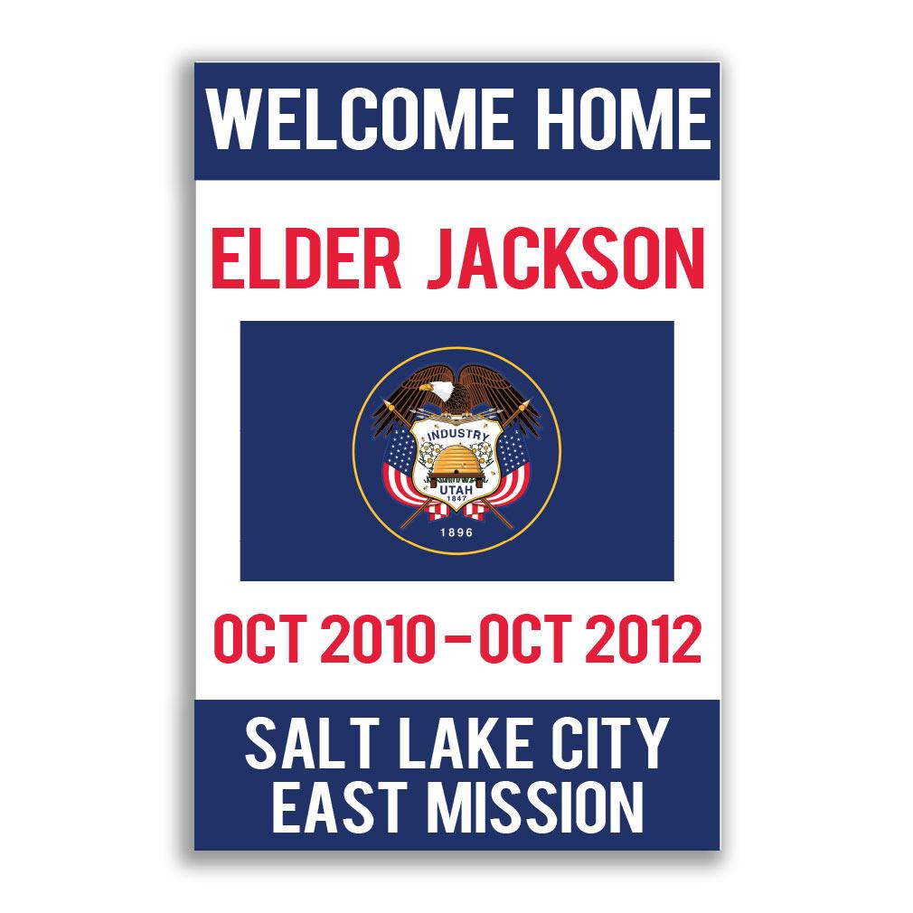 Handheld Flag Missionary Poster - Elder - LDP-MSPST333