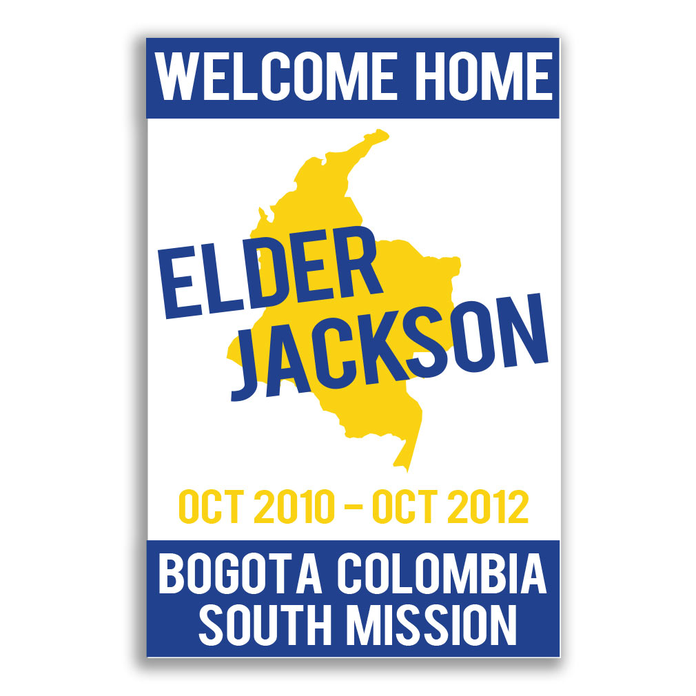 LDS Missionary Welcome Home Banners For Elders & Sisters