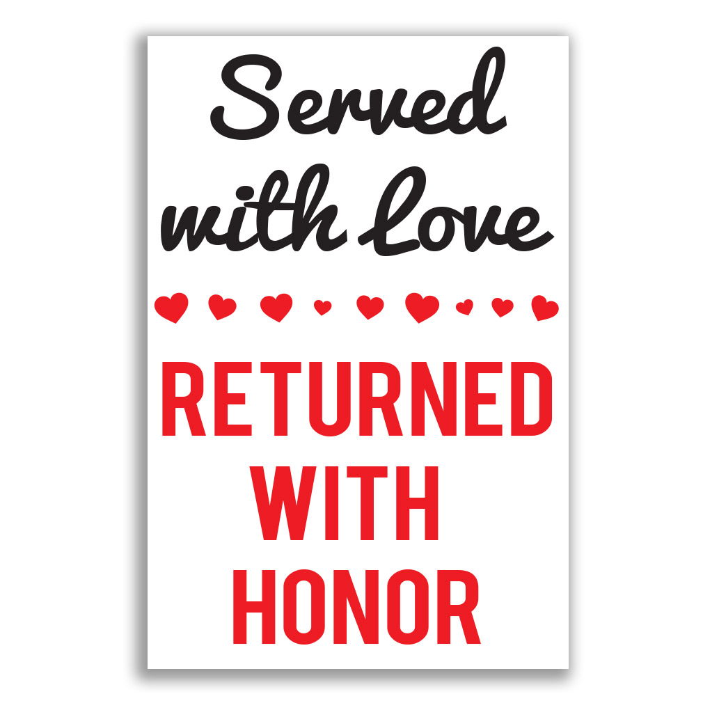 Served With Love, Returned With Honor Poster lds missionary banner, missionary checklist banner, checklist missionary poster, homecoming checklist mission poster