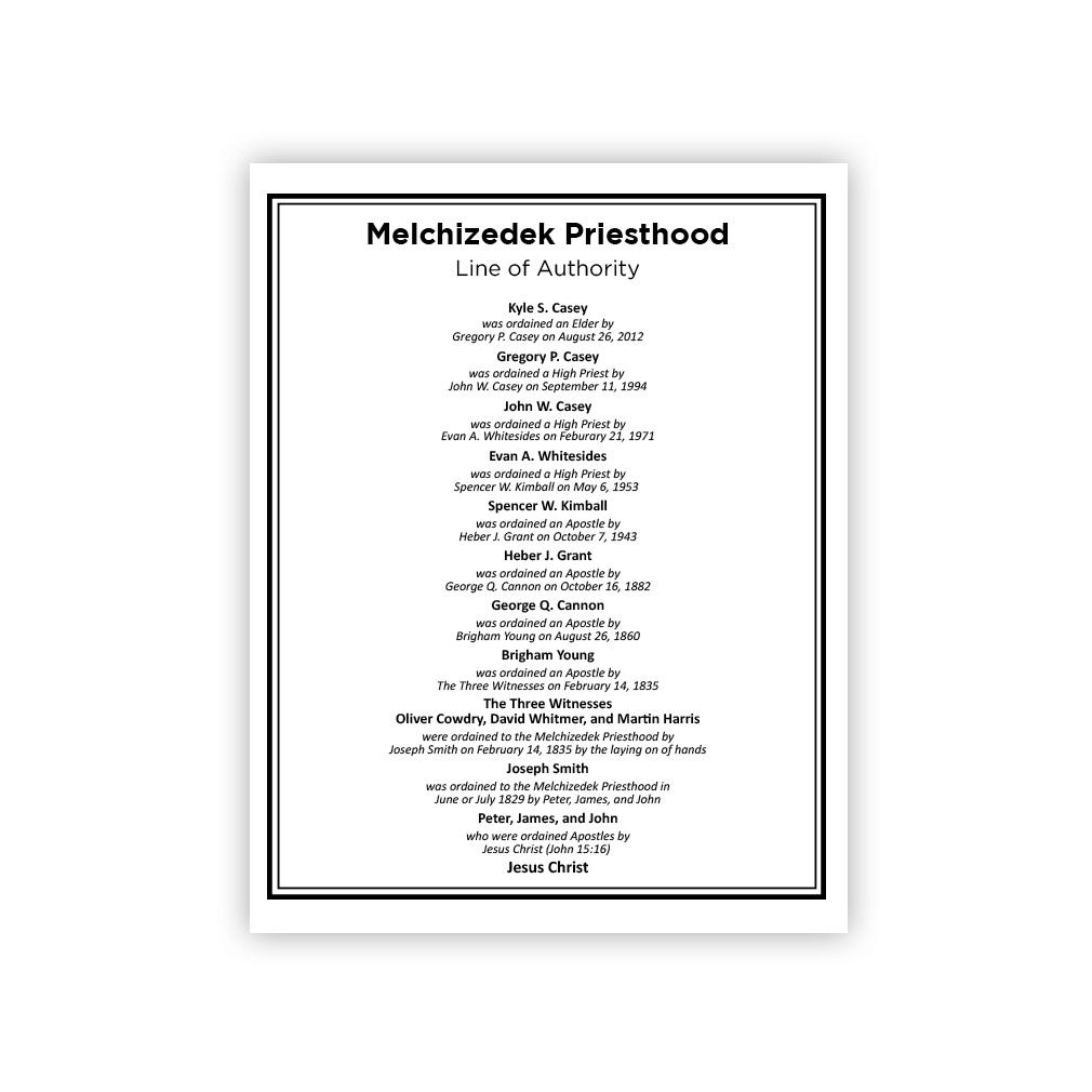 Priesthood Line of Authority Wood Plaque - LDP-PLQ100