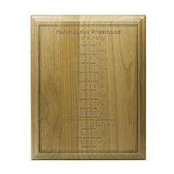 Priesthood Line of Authority Wood Plaque
