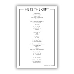 He is the Gift Poster lds poster, plan of salvation, plan of happiness, lds plan of salvation poster, plan of salvation poster