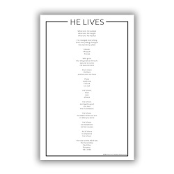 He Lives Poster lds poster,he lives poster,  he lives video words