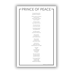 Prince of Peace Poster lds poster,prince of peace poster, prince of peace videos words