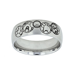 Gallifreyan Choose the Right Ring - Wide - LDP-RNGB15179