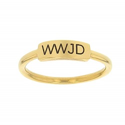WWJD Bar Ring bar ring, lds text bar ring