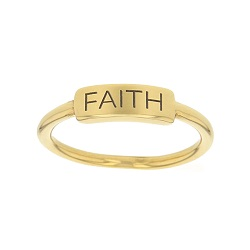 Faith Bar Ring bar ring, lds text bar ring