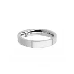 Flat Stainless Steel Princess Ring