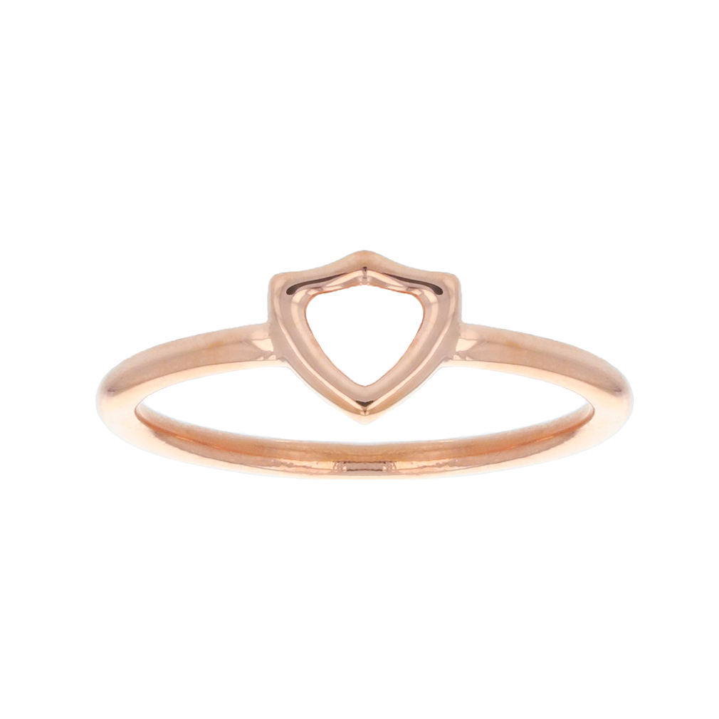 Open Shield CTR Ring - Rose Gold - LDP-RNGOS55