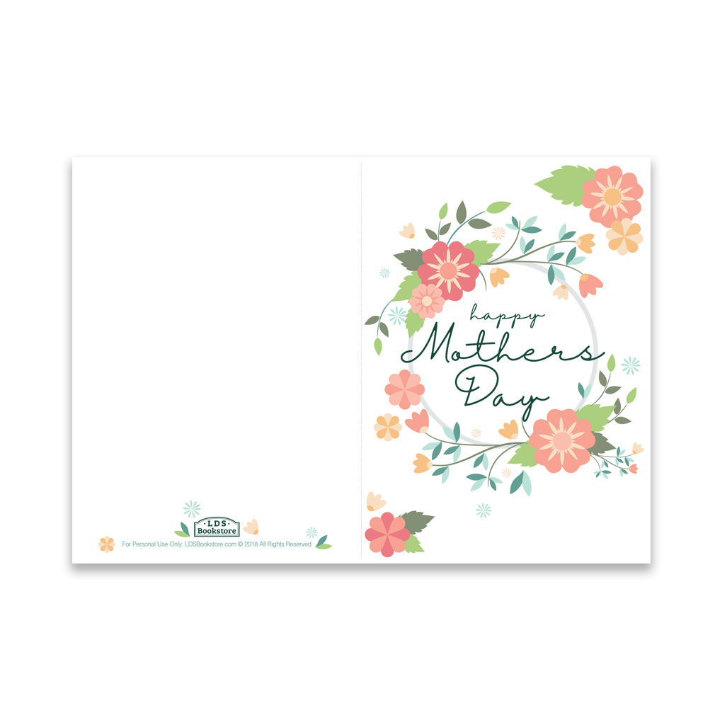 image regarding Spring Printable referred to as Moms Working day Card - Spring Bouquets - Printable